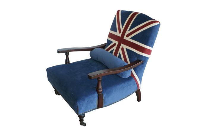 Cortinas De Baño Keep Calm: madera y tela con la bandera Inglesa Union Jack De Francisco Segarra