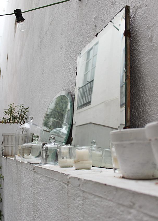 Espejos De Decoracion Antiguos ~ cubos de zinc objetos de cristal velas faroles bombillas de